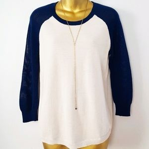 J. Crew merino wool mesh sweater colorblock